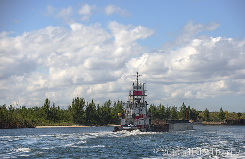 Tug on the St Lucie River by Alida's Photos