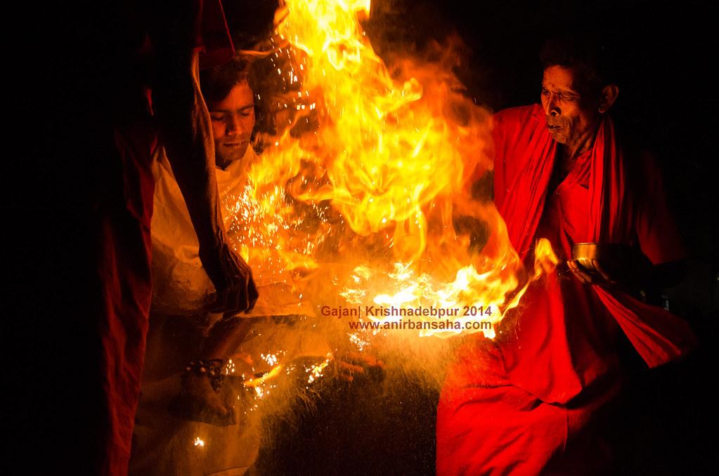 Gajan festival in Krishnadebpur, Krishna in Gajan, Gajan in West Bengal