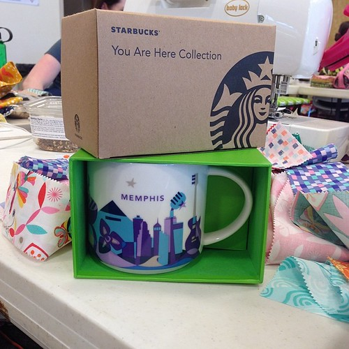 115:365 A little #thestashbash swap with @shutterbugmal to add Memphis to my #Starbucks You Are Here collection.