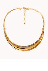 Forever21-Crescent-Trio-Necklace-Gold