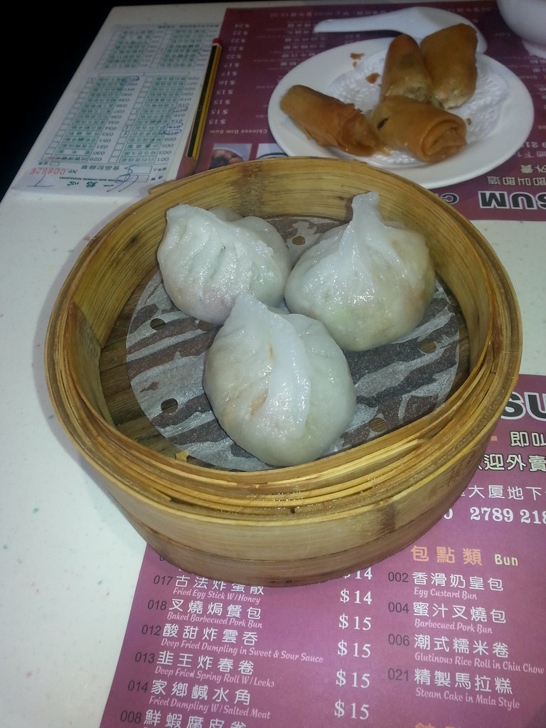 Steamed Pork Dumplings and Spring Rolls