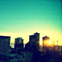 Space Needle & #sunset