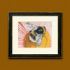 Cute bumblebee on bright flower completed cross stitch framed embroidery home decor
