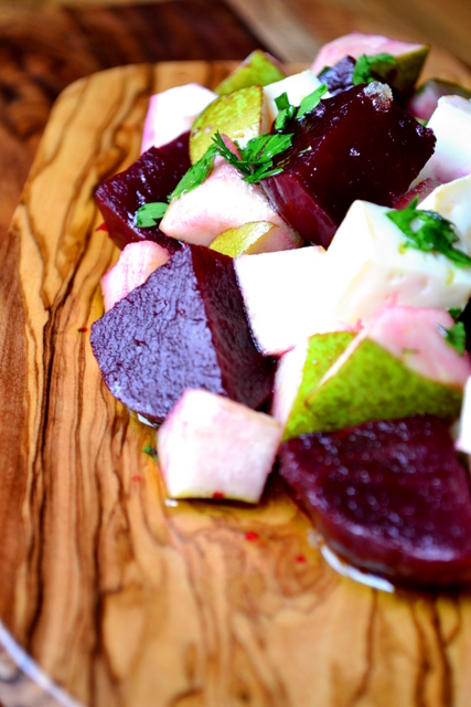 Beetroot, Pear & Goats Cheese Salad Recipe