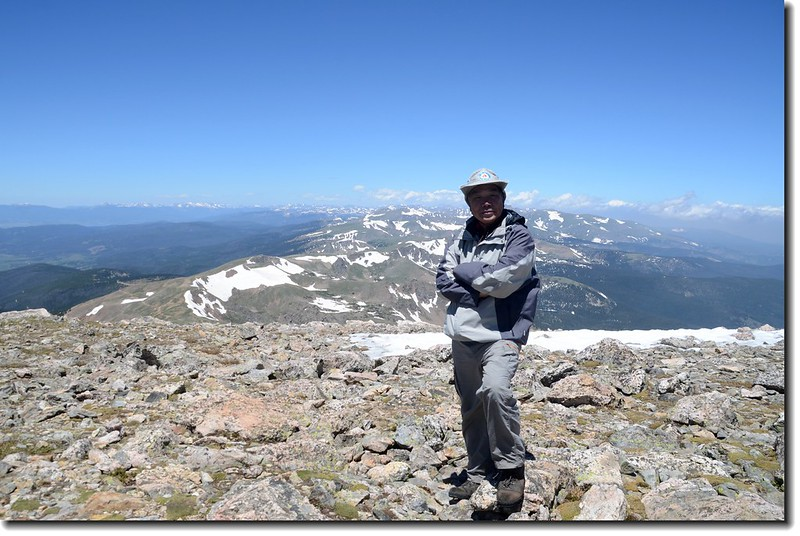 Me on the summit of James Peak