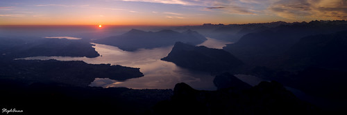 panorama mountain alps sunrise switzerland vierwaldstättersee lakelucerne lacdesquatrecantons