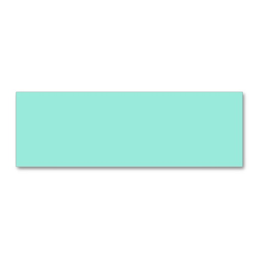 Light Aquafresh Aqua Blue Green Fashion Color Business Card Templates
