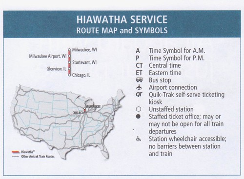 Amtrak Hiawatha Service 2014 Map