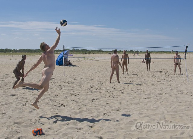 naturist volleyball 0005 Sandy Hook, NJ, USA