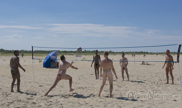 naturist volleyball 0010 Sandy Hook, NJ, USA