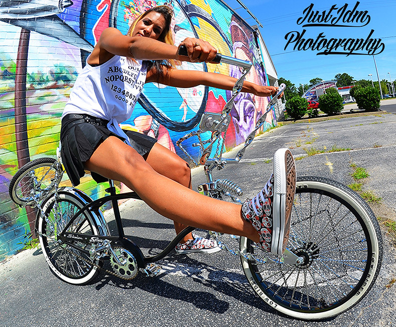 DJ RAW BASE LOWRIDER BIKE SHOOT WITH MODELS