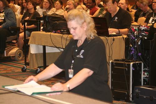 Lori Emerson, Floor Manager extraordinaire.
