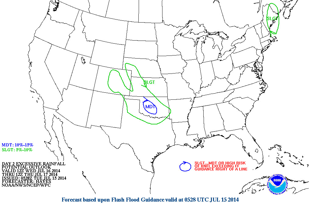 WPC flash flood outlook