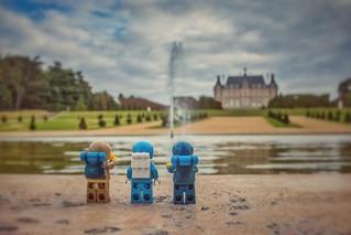 Les voyageurs au parc de Sceaux...