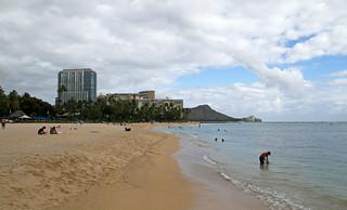 Image of Waikiki Beach near Honolulu. honolulu hawaii