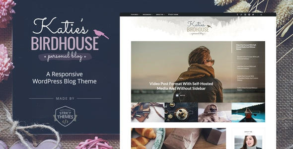 BirdHouse v1.0.0 - A Responsive WordPress Blog Theme