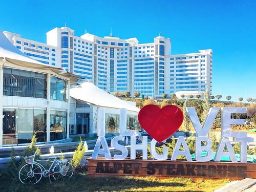 hotel restaurant steakhouse architecture love turkmenistan ashgabat