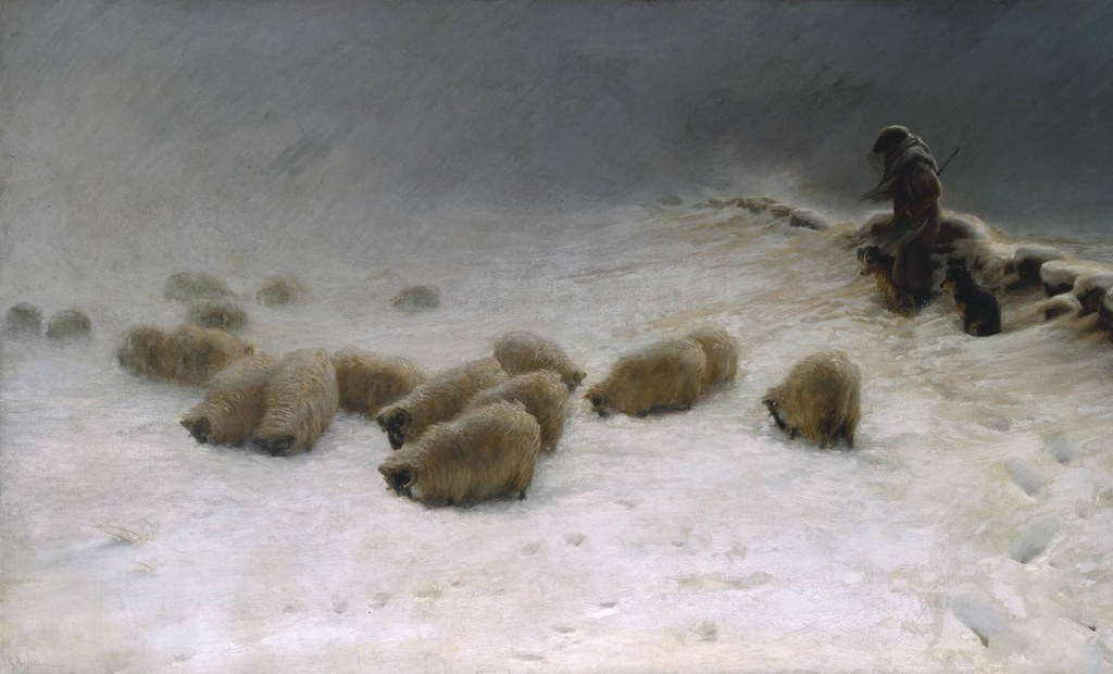 The Joyless Winter Day by Joseph Farquharson, 1883