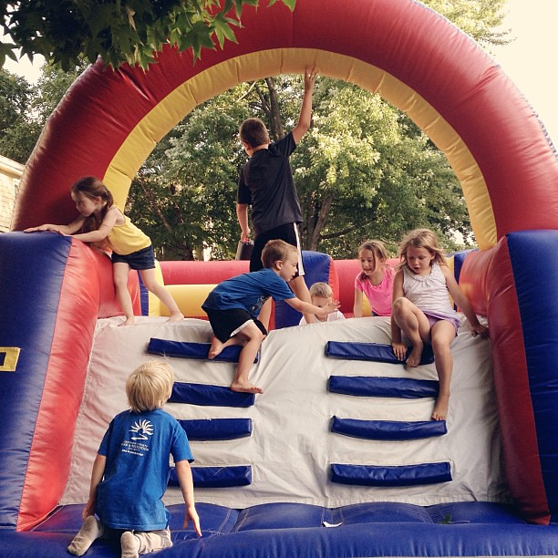 Bouncy house wildness! #summer #blockparty #iloveourstreet