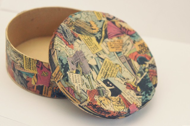 comic book decoupage