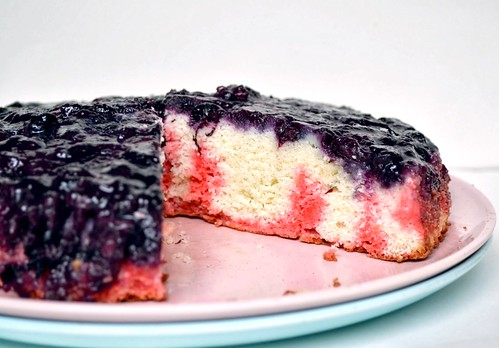 patriotic blueberry upside down cake