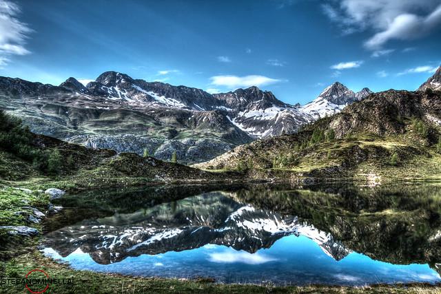 Val Brembana Lake Landscape HDR