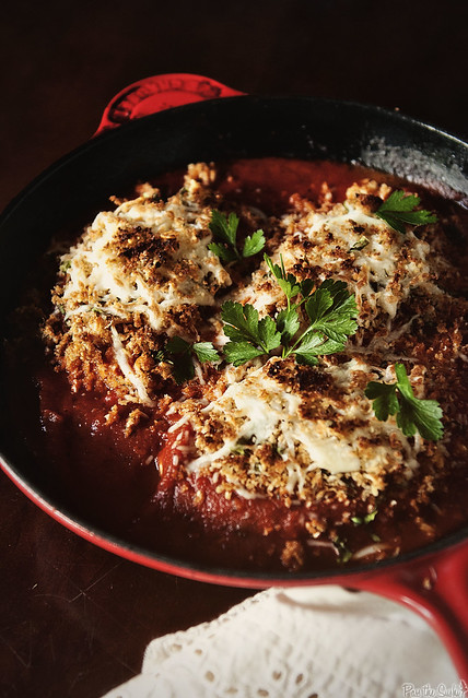 Weeknight Skillet Chicken Parmesan  via GirlCarnivore.com