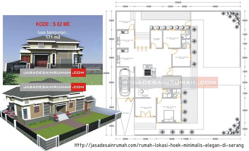 Rumah Besar Menawan Lokasi Pojok Di Indragiri Jasa Desain Rumah