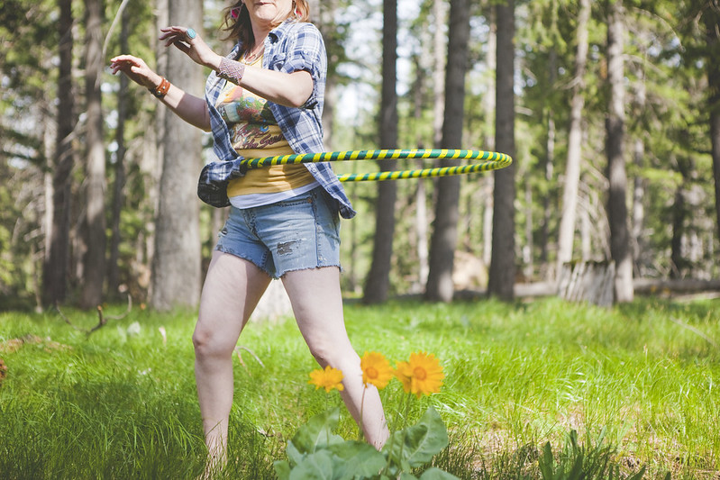 Hooping in the forest