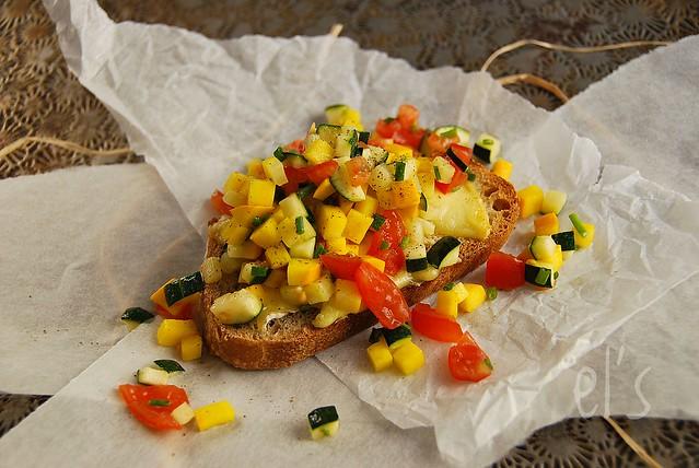 Tartare de courgette et tomate