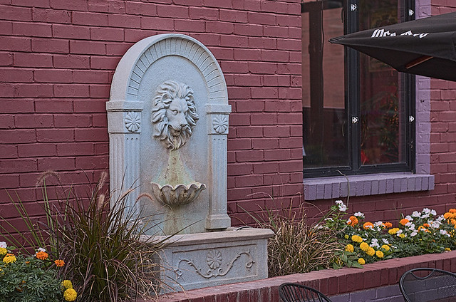 Soulard Neighborhood, in Saint Louis, Missouri, USA - fountain