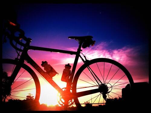 sunset bike bicycle utah august silouette 365 roadbike 2013 orangutanfilter