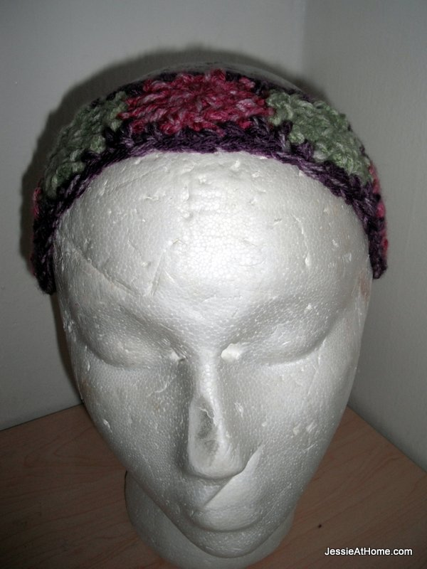 Free-crochet-dotted-headband-pattern-front-on-form