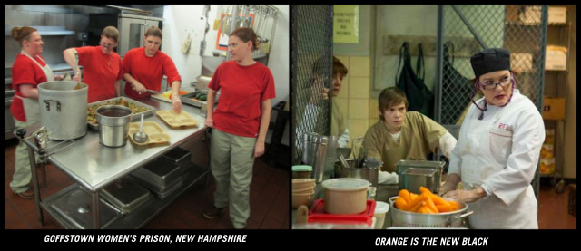 work in a prison kitchen looks similar to on the show