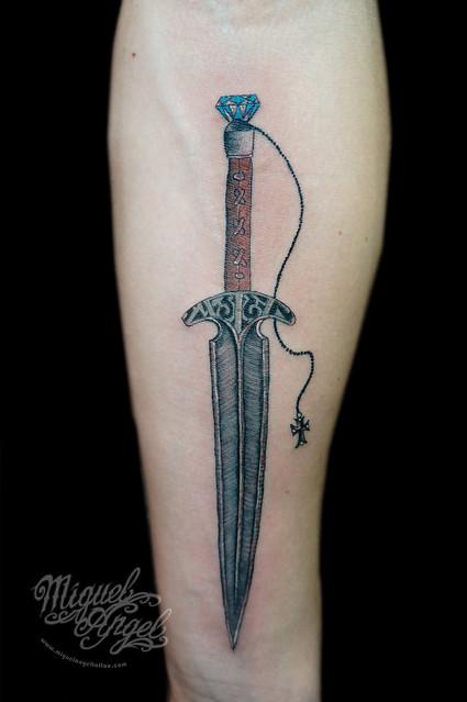 Tudor sword tattoo flickr photo sharing for Crossed swords tattoo
