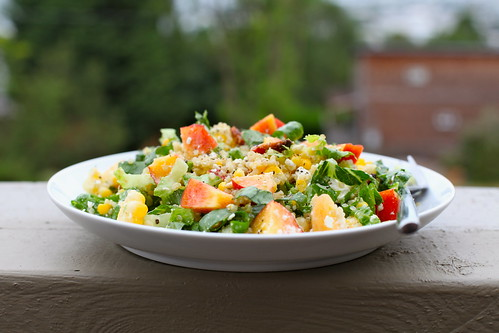Chopped Salad with Nectarine, Corn & Feta