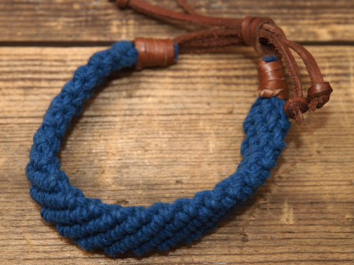 J.Crew / Braided Rope & Leather Bracelet