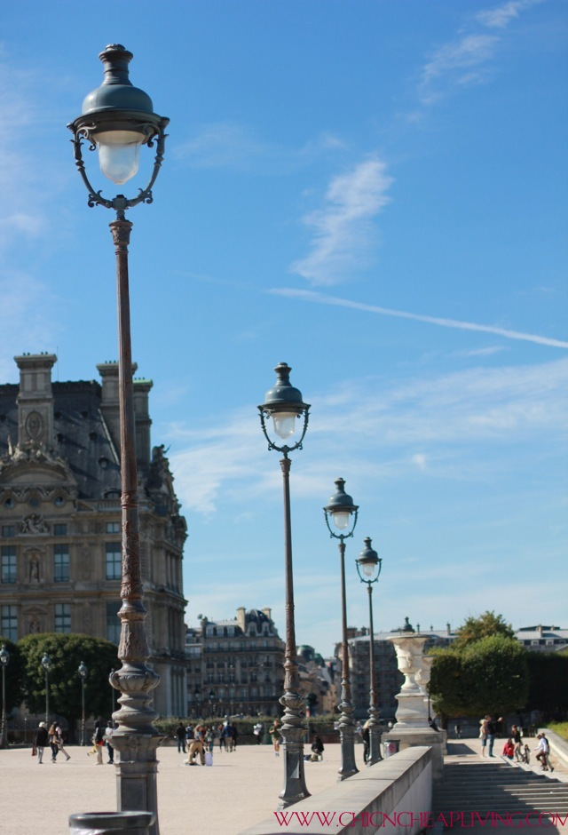 Paris street lights by Chic n Cheap Living