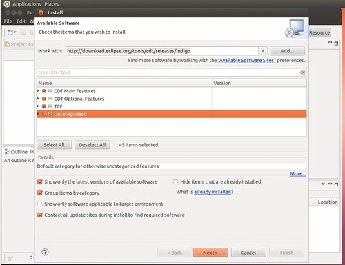 Ubuntu 12.04 Eclipse install CDT 1