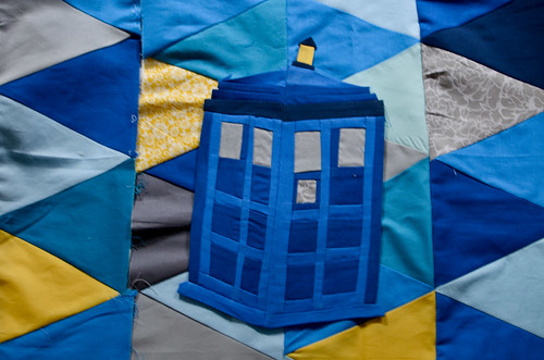 Tardis Quilt on Isosceles Triangle Quilt Pieces