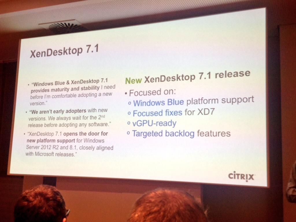 Citrix XenDesktop 7.1 release