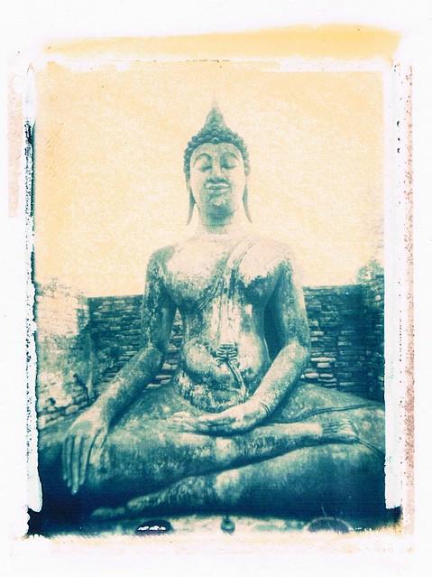 Polaroid Transfer Buddha-Old Sukkhothai