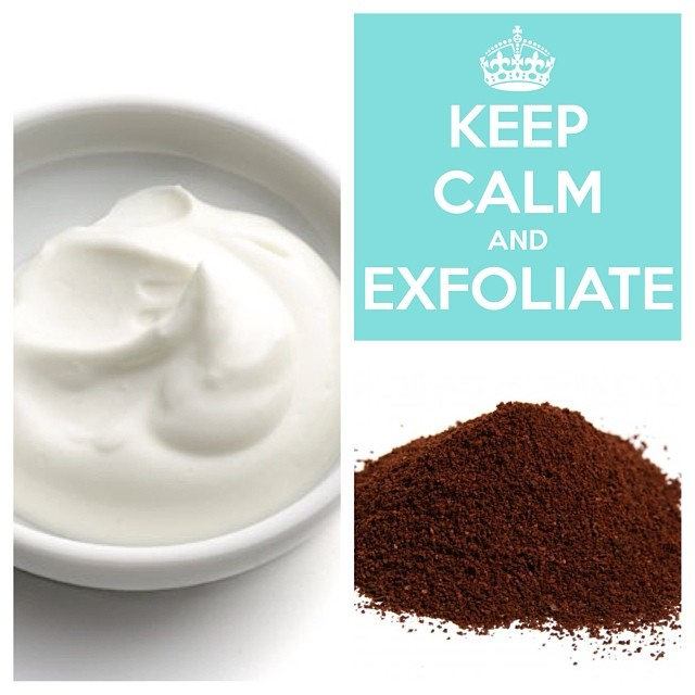 B-Quick Tip Tuesday.   I tablespoon of full fat plain yogurt. (Room Temperature) 1/4 teaspoon finely ground coffee grounds. ☕ Apply to face, work in circular motions and rinse with lukewarm water.  Reveal glowing revitalized skin! #skincare #beauty #tip #