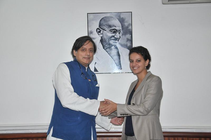 Najat Vallaud-Belkacem et le Ministre Indien de l'Enseignement et de la Recherche Mr Shashi Tharoor