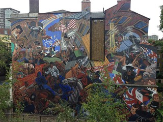 Mural of the Battle of Cable Street