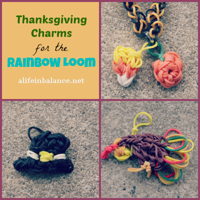 Thanksgiving Charms for the Rainbow Loom