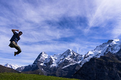 Eiger, Mönch, Jungfrau, Clown