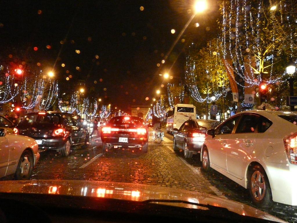 Paris, Champs Elysées, Décoration Noël