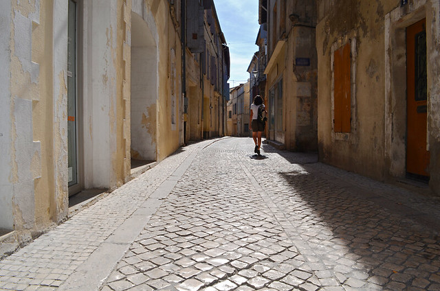 Backs streets of Tarascon, Provence, France