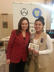 Gabriela and U.S. Treasurer Rosie Rios
